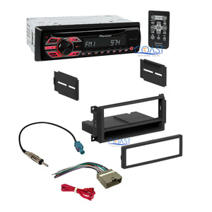 Pioneer Single DIN Car Stereo Dash Kit Harness for 2007-13 Chrysler Dodge Jeep