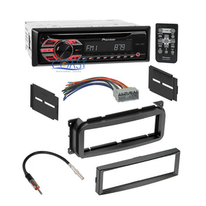 Car Radio Stereo Dash Kit Wire Harness Antenna for 2002-up Chrysler Dodge Jeep
