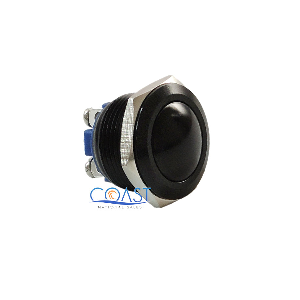 Durable 16mm Car Starter Horn Momentary Black Push Button Toggle Switch