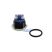 Load image into Gallery viewer, Durable 16mm Car Starter Horn Momentary Black Push Button Toggle Switch