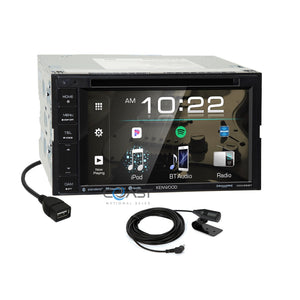Kenwood DVD USB BT Sirius Stereo Dash Kit JBL Harness for 09-11 Toyota Corolla