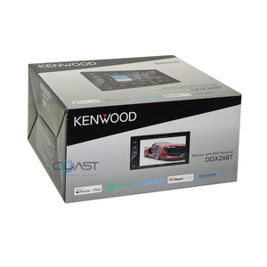 Kenwood DVD Sirius Stereo Blk Dash Kit Amp SWC Harness for 2005-07 Chrysler 300