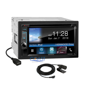 Kenwood DVD Sirius Waze Bluetooth Stereo Dash Kit Harness for 06-08 Dodge Ram