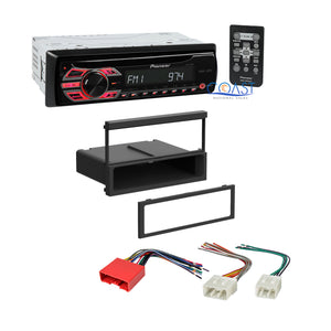 Pioneer Car Radio Stereo Single DIN Dash Kit Harness for 2001-06 Mazda Tribute