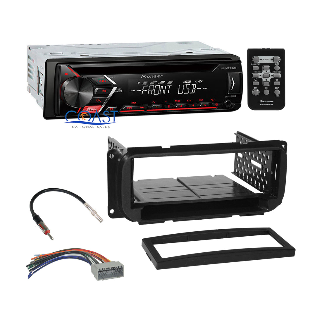 Pioneer Car Radio Mixtrack 1 Din Dash Kit Harness for 98-10 Chrysler Dodge Jeep