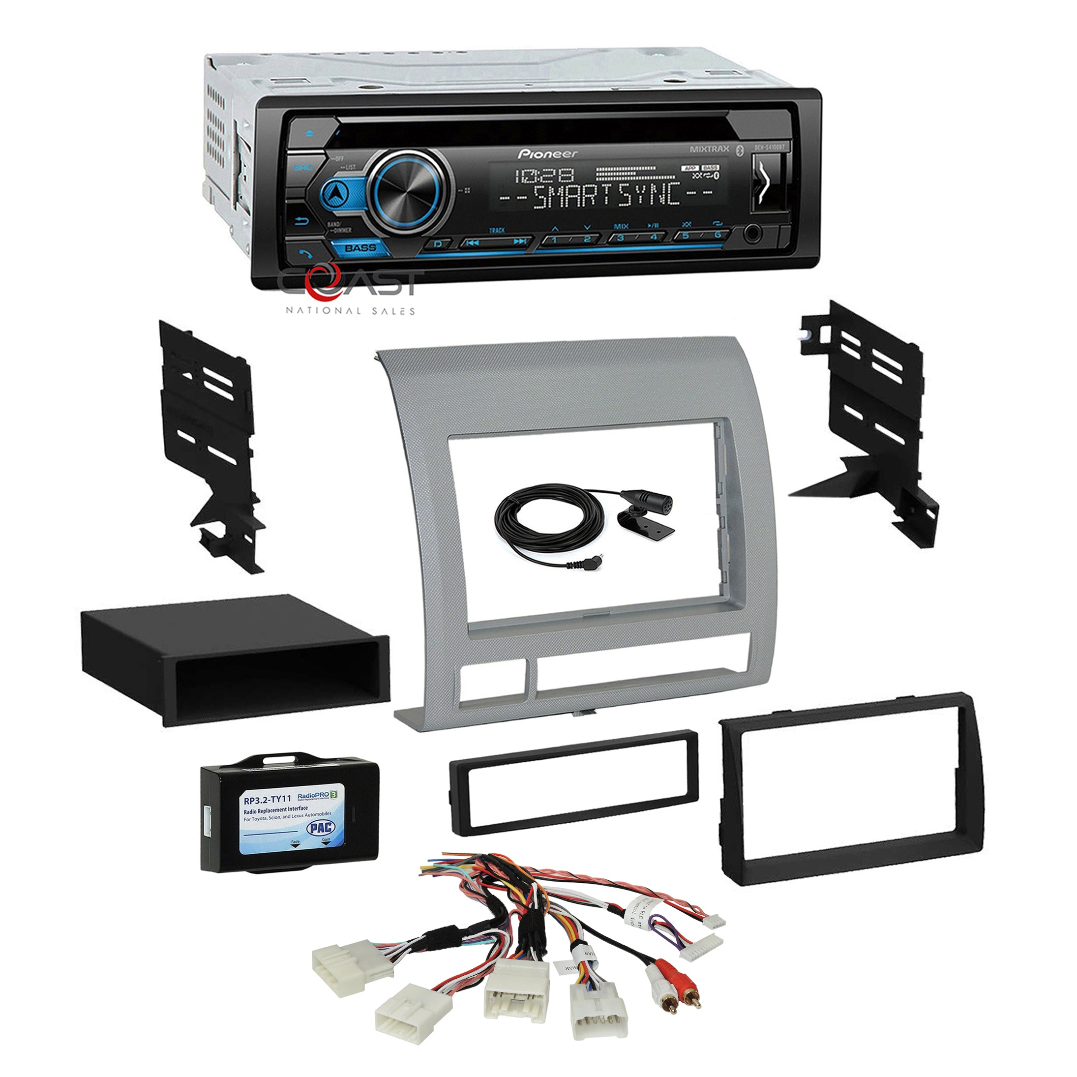 Pioneer Car Single Din Radio Stereo Dash Kit Harness for 2005-11 Toyota Tacoma