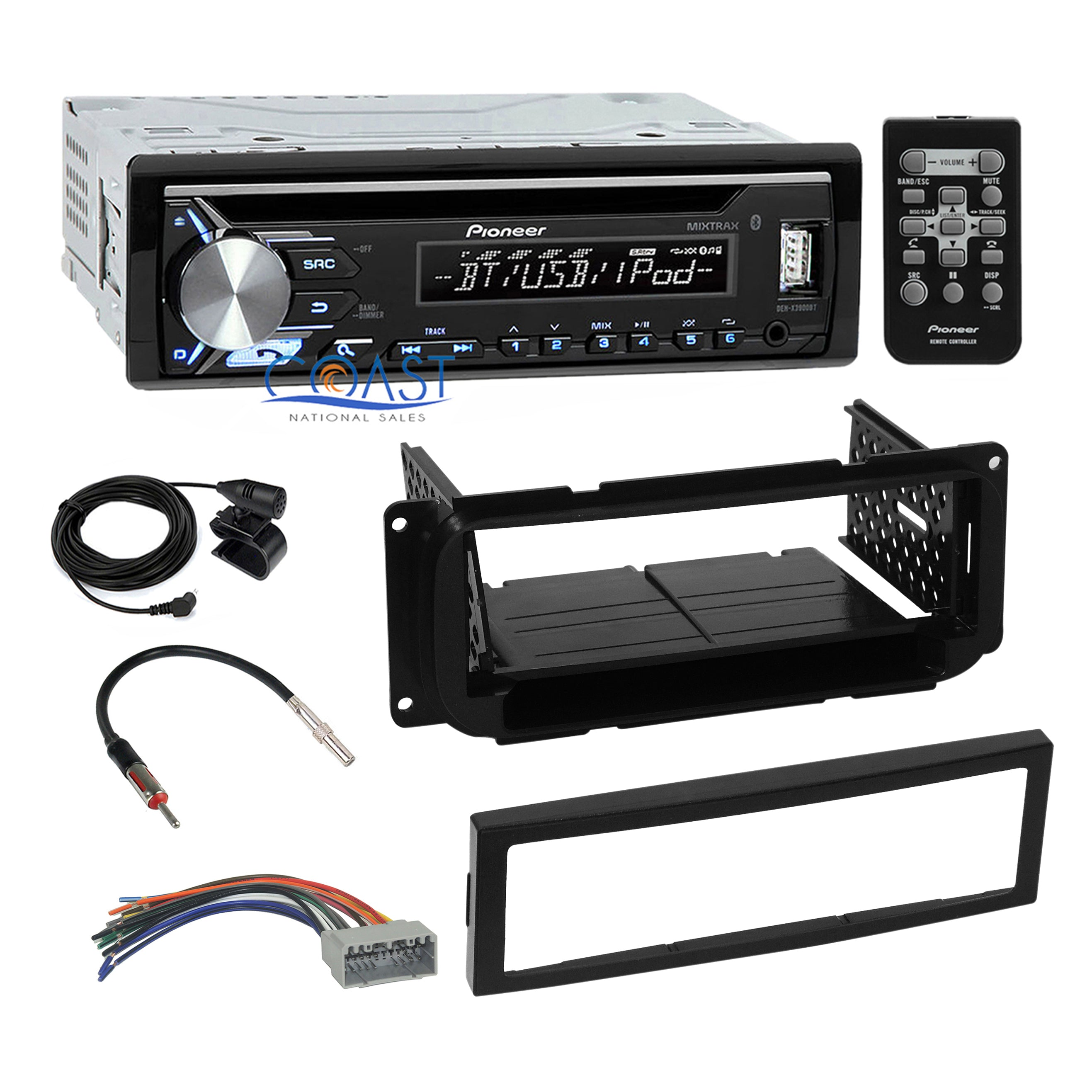 Antenna 2001-2006 Ford//Lincoln//Mercury Double DIN Car Dash Kit w//Harness