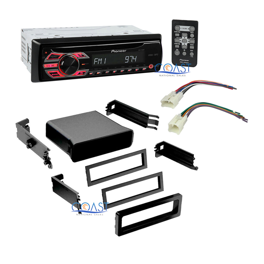 Universal Radio Stereo Install Pocket Dash Kit w/harness for 1987-2004 Toyota