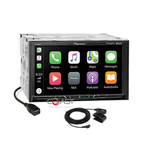 "Pioneer 7"" BT Carplay Android Stereo Dash Kit Bose Amp Harness for GM Chevrolet"