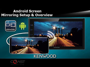 Kenwood USB Bluetooth Android Mirror Stereo Dash Kit Harness for 09-14 Acura TL