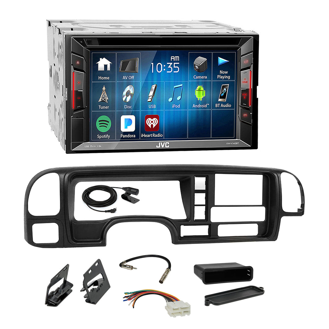 JVC DVD USB Spotify Bluetooth Stereo Dash Kit Harness for 1995-02 GM Truck SUV