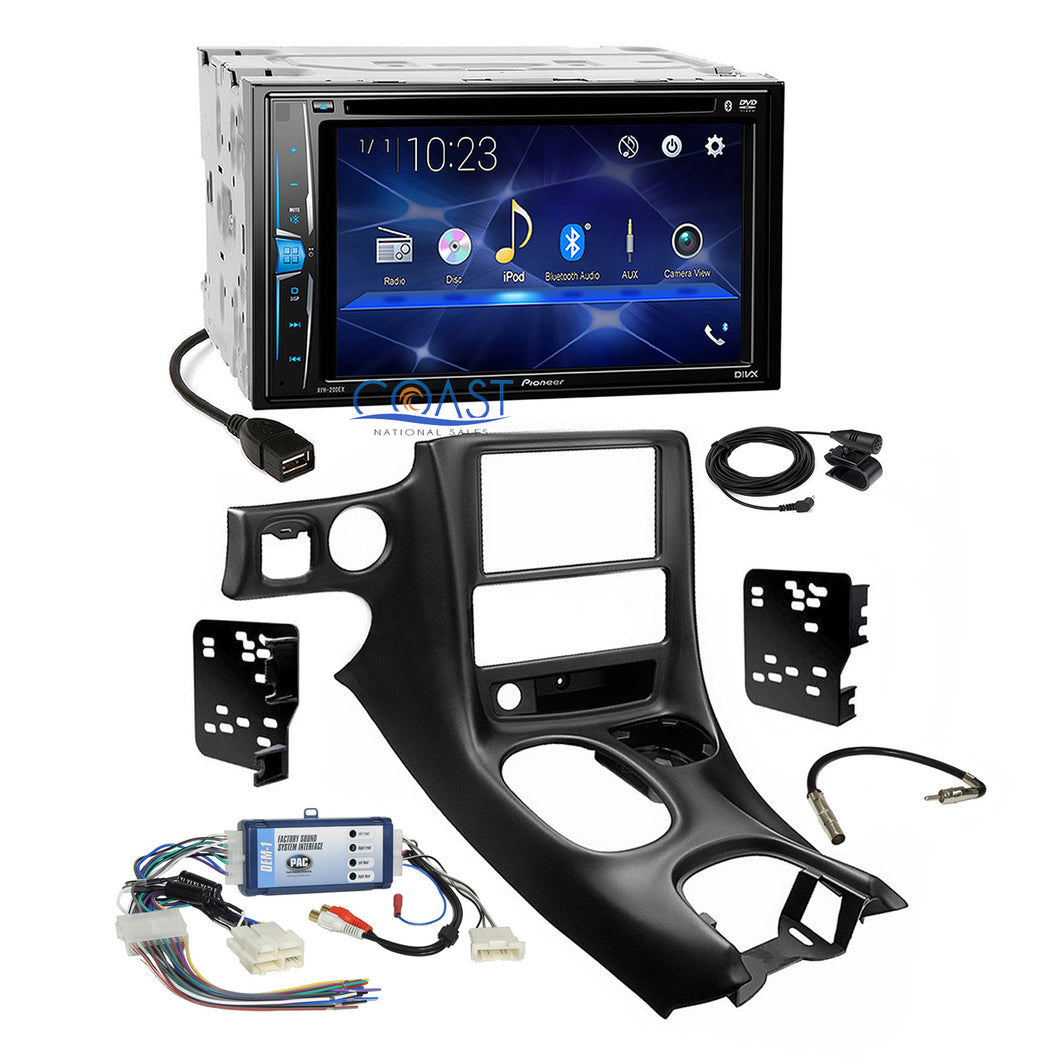 Pioneer 2018 Bluetooth Stereo Dash Kit Bose Harness for 97+ Chevrolet Corvette