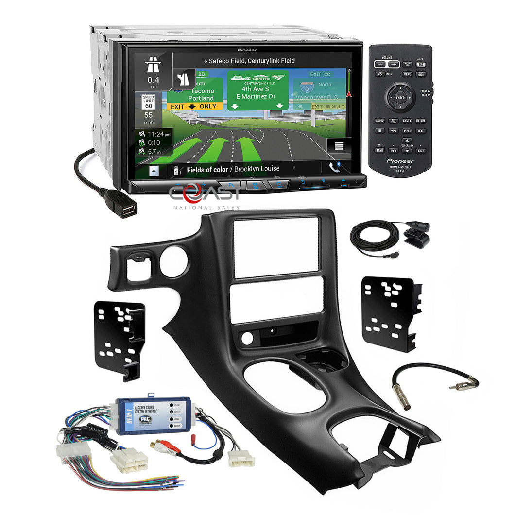Pioneer WiFi Carplay GPS Stereo Dash Kit Bose Harness for 97+ Chevy Corvette