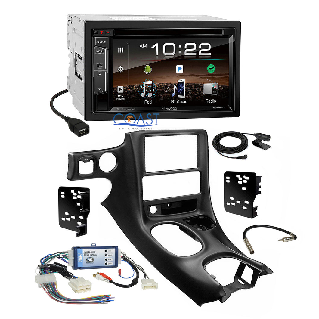 Kenwood 2018 DVD USB Stereo Dash Kit Bose Harness for 97-04 Chevrolet Corvette