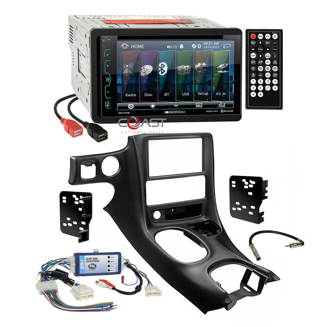 Soundstream DVD Dual USB Stereo Dash Kit Bose Harness for 97+ Chevy Corvette