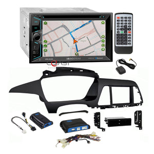 Soundstream DVD GPS Dash Kit Amp Steering Wheel Harness for 2015 Hyundai Sonata