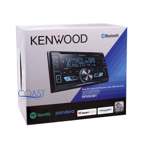 Kenwood CD SiriusXm Bluetooth Silver Dash Kit Harness for 2005-07 Chrysler 300