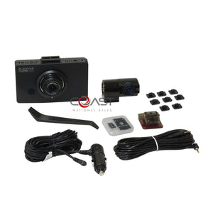 "BlackVue 2 Chan. 3.5"" LCD Dashcam Dual Full HD 1080P 30fps Camera DR490L-2CH"