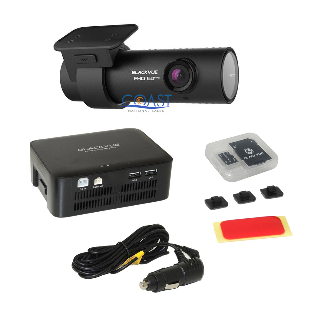 BlackVue 1Ch. Full HD 1080P 16GB GPS Dashcam Night Vision Camera + Battery Pack