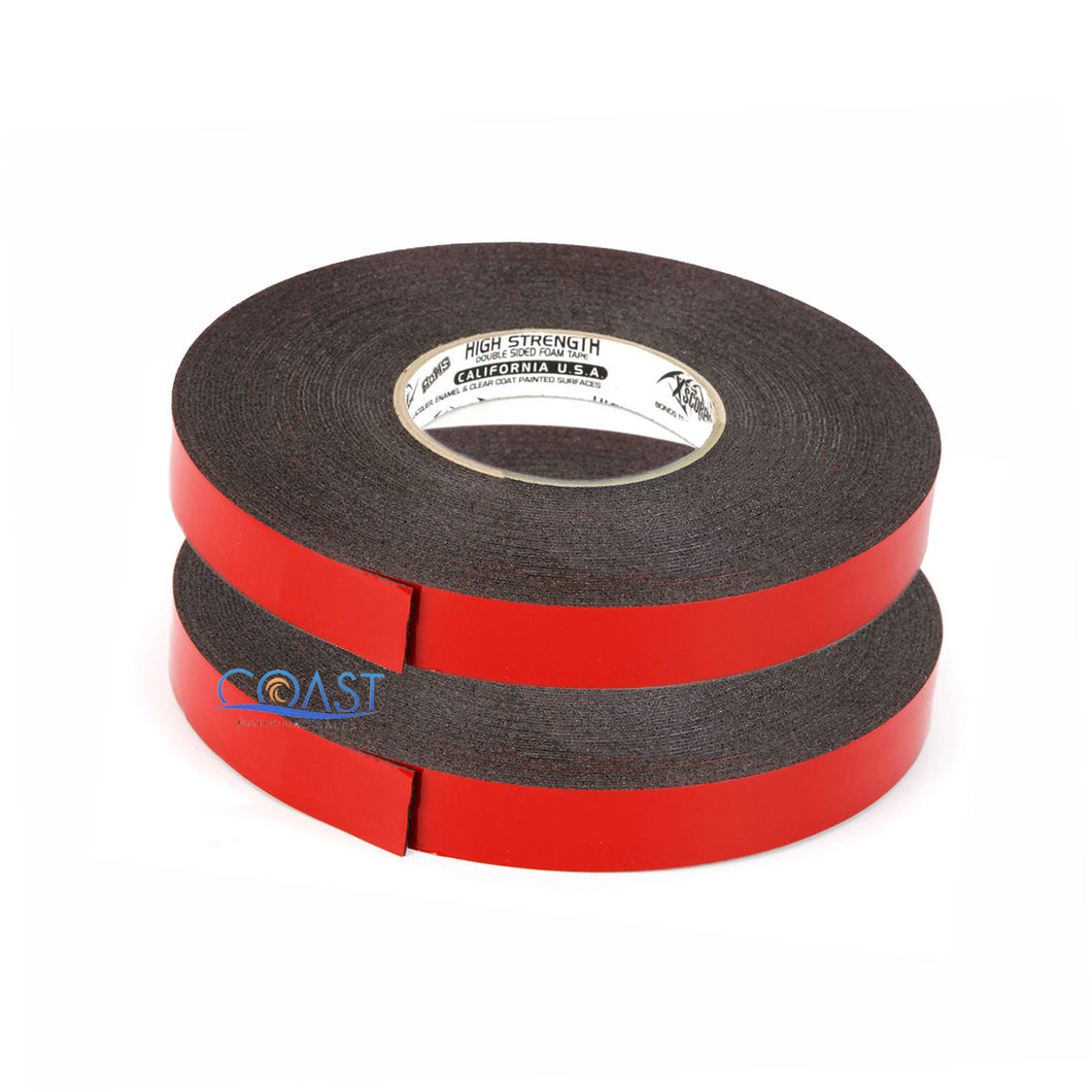 2X High Strength Double Sided Foam Adhesive Tape 60 Ft of 1