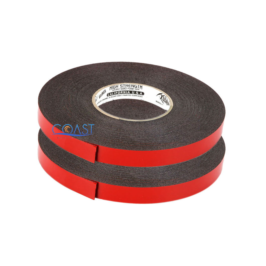 2X High Strength Double Sided Foam Adhesive Tape 60 Ft of 3/4