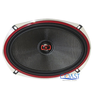"2X DS18 EXL-SQ6.9 Car Audio 560W EXL Series 6""x9"" 2-Way Coaxial Speakers"