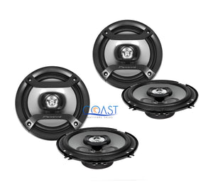 "2X Pioneer Car Audio Pro Flush 6.5"" 200W 2-Way Coaxial Speaker TS-F1634R"
