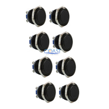 Load image into Gallery viewer, 8X Durable 19mm Car Starter Horn Buzzer Black Momentary Flat Push Button Switch