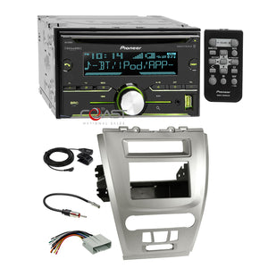 Pioneer CD MP3 Sirius Stereo 2Din Sil Dash Kit Harness for Ford Fusion Mercury