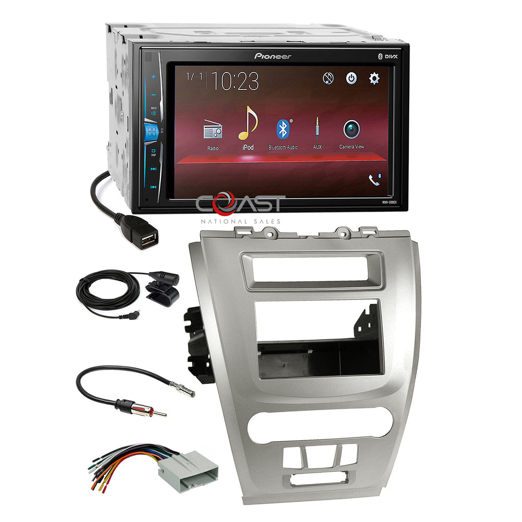 Pioneer 2018 USB Stereo 2Din Sil Dash Kit Harness for 10-12 Ford Fusion Mercury
