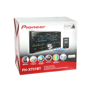 Pioneer Bluetooth Car Stereo + Dash Kit Wire Harness for 2007-11 Chevrolet Aveo