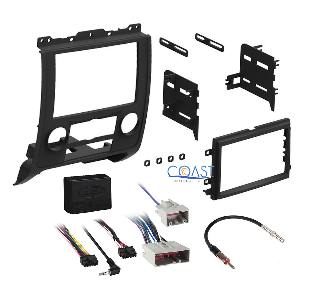 Single Double DIN Car Dash Kit Harness Antenna for 2008-2012 Ford Mercury Mazda