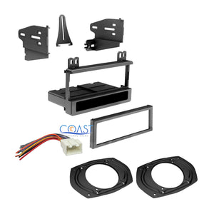 Single Din Dash Kit Harness & Speaker Adapters 1995-2010 Ford Lincoln Mercury