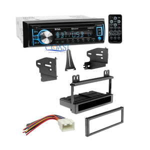 Boss Bluetooth Car Stereo + Dash Kit Harness for 1995-10 Ford Lincoln Mercury