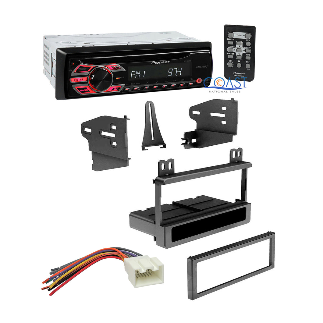 Pioneer Single Din Car Dash Kit Wire Harness for 1995-2010 Ford Lincoln Mercury