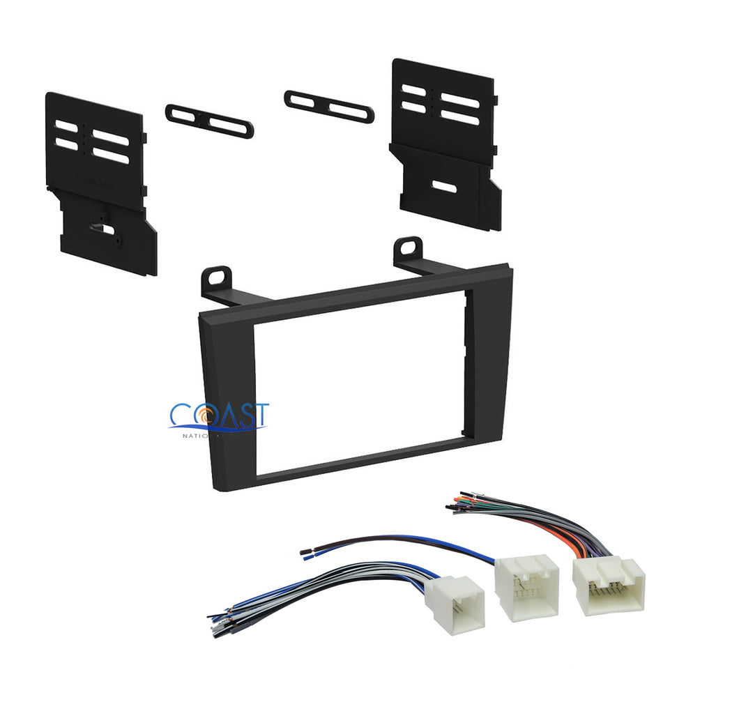 Car Double DIN Radio Stereo Dash Kit Wiring Harness for 2000-2003 Ford Lincoln