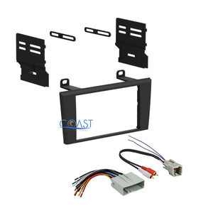 Double Din Install Radio Stereo Dash Kit w/ Harness for 2004-2006 Ford Lincoln