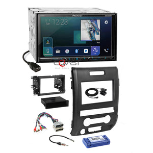 Pioneer 2018 DVD Sirius GPS Ready Stereo Dash Kit Harness for 09-12 Ford F-150