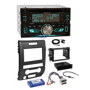 Kenwood CD USB Sirius Bluetooth Stereo Dash Kit Harness for 2009-12 Ford F-150