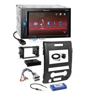 Pioneer USB Multimedia Bluetooth Stereo Dash Kit Harness for 2009-12 Ford F-150