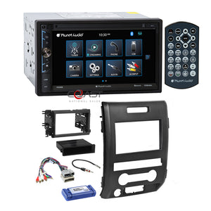 Planet Audio USB MP3 Bluetooth Stereo Dash Kit Amp Harness for 09-12 Ford F-150
