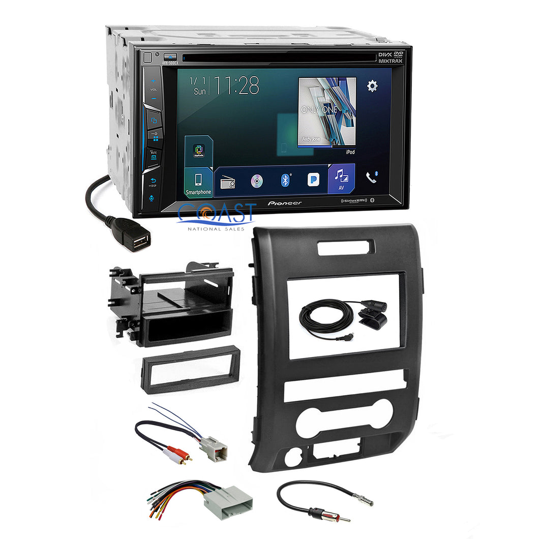 Pioneer Bluetooth Sirius AppRadio Stereo Dash Kit Harness for 09-12 Ford F-150