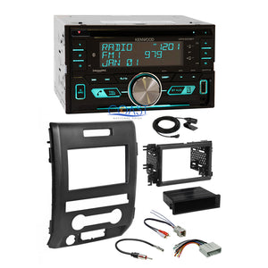 Kenwood USB Sirius Bluetooth Stereo 2 Din Dash Kit Harness for 09-12 Ford F-150