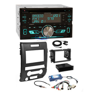 Kenwood USB Bluetooth Sirius Stereo Dash Kit SWC Amp Harness for 09+ Ford F-150