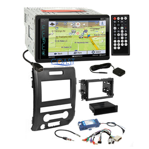 Soundstream GPS PhoneLink Stereo Dash Kit SWC Amp Harness for 2009+ Ford F-150