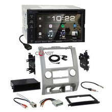 Load image into Gallery viewer, Kenwood Sirius Bluetooth Stereo Silver Dash Kit Harness for Ford Mercury Mazda