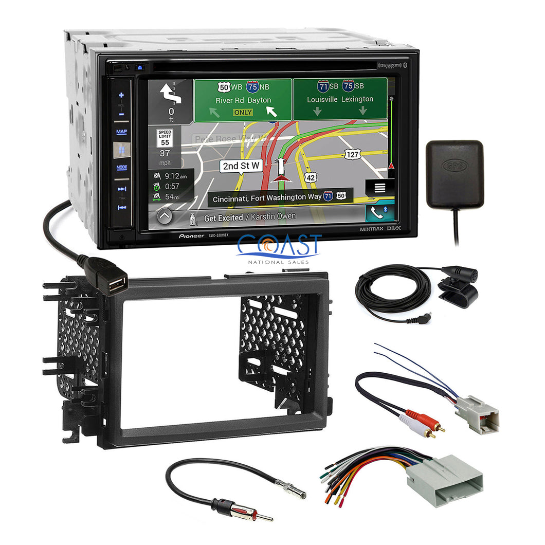 Pioneer GPS Carplay Stereo Dash Kit Amp Harness for 2004+ Ford Lincoln Mercury