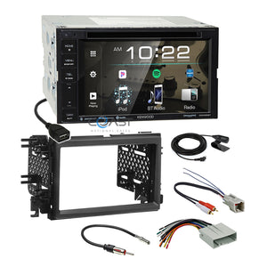 Kenwood 2018 DVD Spotify Stereo Dash Kit Amp Harness for Ford Lincoln Mercury