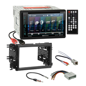 Soundstream DVD Bluetooth Stereo Dash Kit Amp Harness for Ford Lincoln Mercury