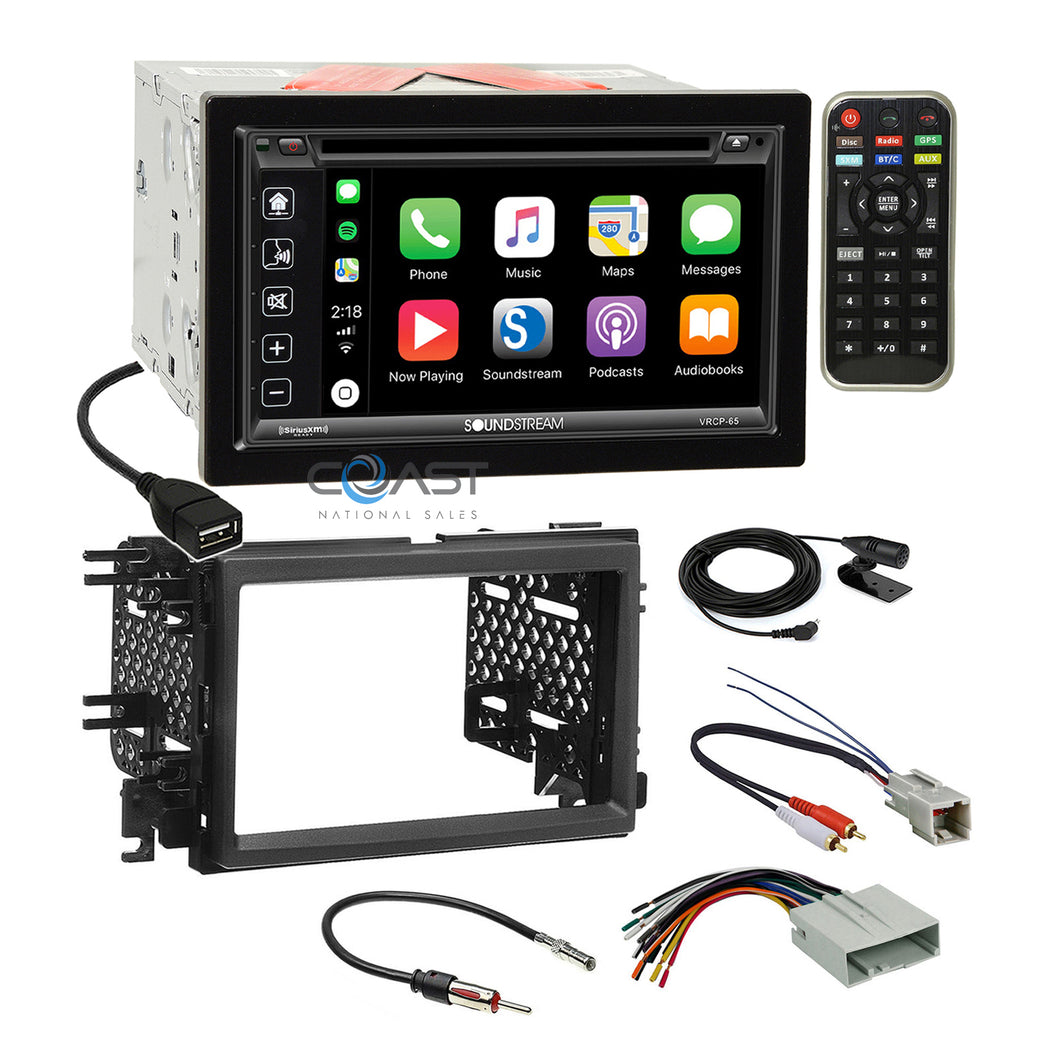 Soundstream 2018 Carplay Stereo Dash Kit Amp Harness for Ford Lincoln Mercury